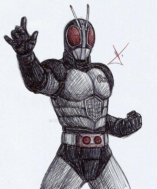 Kamen Rider Black RX sketch by RodWolf on DeviantArt