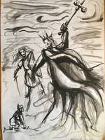 Eowyn, Merry and the Witch King by bjornaxen