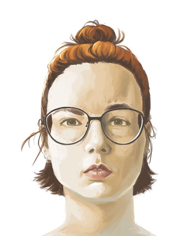 Self Portrait 2015 by MilouvanMontfort