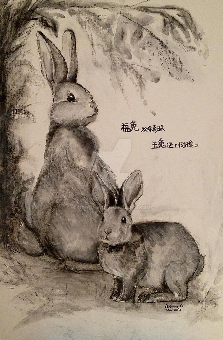 year of rabbit by j0rosa on deviantart. Black Bedroom Furniture Sets. Home Design Ideas