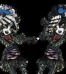 Monster High ZOMBIE DANCE WERECAT TWINS PNG