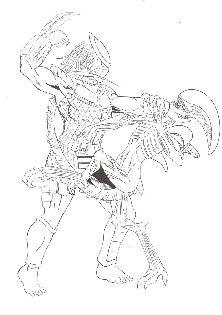 predator alien coloring pages - photo#10