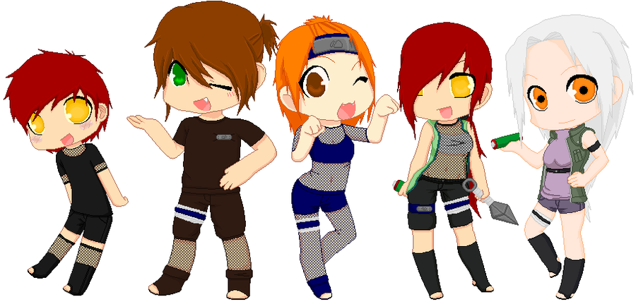 Kira, Team, Sensei And Brother by Dokii-Lokii