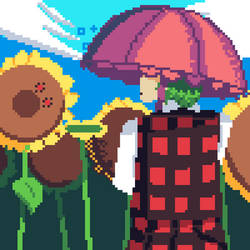 Yuuka In Blossoming Fields