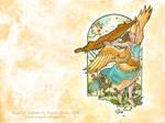 Angel of Summer Wallpaper