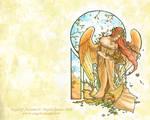 Angel of Autumn Wallpaper