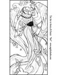 Winged Iris Line Art