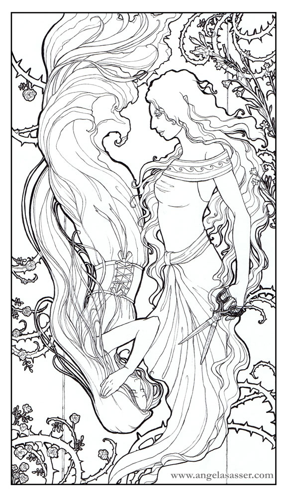 The Thorn and the Bloom Line Art by AngelaSasser