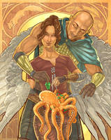 DnD Nouveau - The Cleric and the Rogue by AngelaSasser