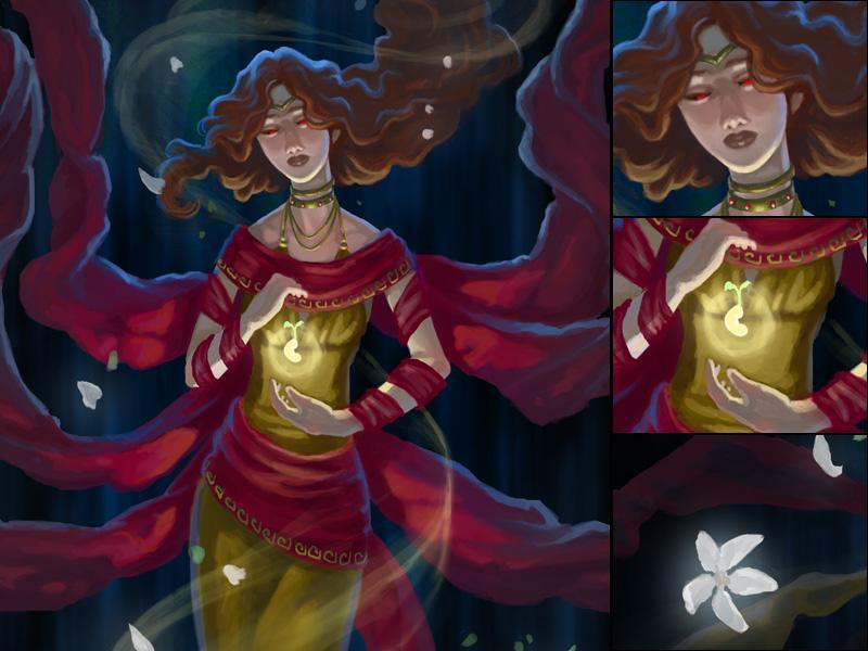 Detail - Persephone Queen of the Underworld