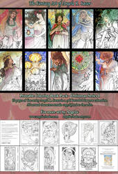 Printable Coloring Book Pack - Christmas Series I by AngelaSasser