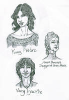 Kushiel's Dart - Head Sketches 1 by AngelaSasser