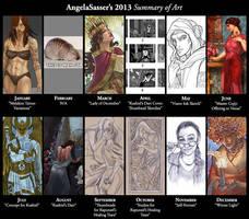 Angela's 2013 Summary of Art by AngelaSasser
