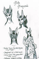 Butterfly Masquerade Doodles by AngelaSasser