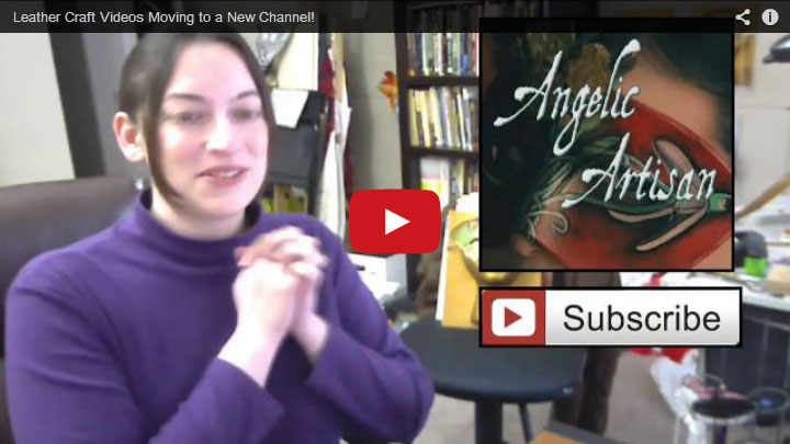 Leather Craft Videos Moving to a New Channel! by AngelaSasser