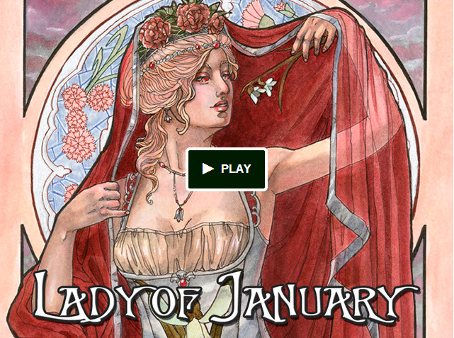 Kickstarter: Art Nouveau Series - Lady of January by AngelaSasser