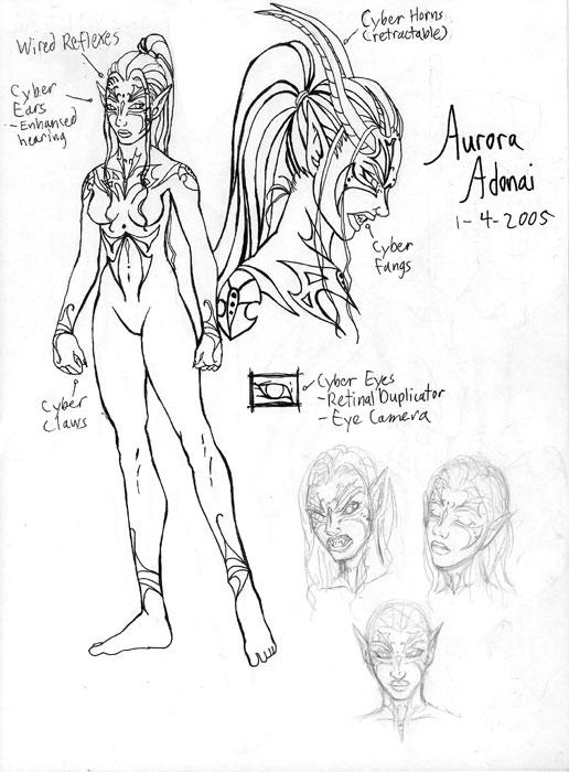 Character Sketch-Aurora Adonai
