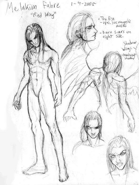 Character Sketch-Melakim Fahre