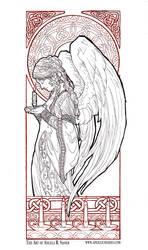 Christmas Angel Line Art