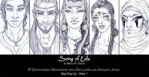 Song of Exile Character Sketches by AngelaSasser