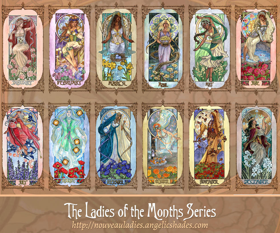 Ladies of the Months Series by AngelaSasser