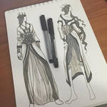 Lady of February Fashion Sketches