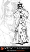 Patreon Sketch - Steampunk Red Riding Hood