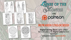 Ladies of the Months Coloring Pages UNLOCKED!