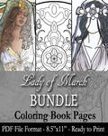 Coloring Pages - Lady of March