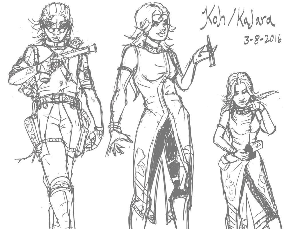 Character Sketches: Koh aka Kalara The Uncrucified