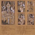 WiP OC Tarot - Melakim (The Hanged Man) Thumbnails by AngelaSasser