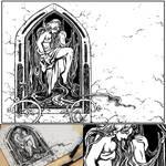 Rapunzel in the Tower Original Art Montage