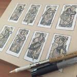 WiP Lady of May Thumbnail Sketches