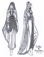 Lady of November Fashion Sketches by AngelaSasser