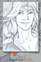 Patreon Sketch Card: Syn by AngelaSasser