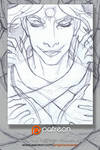 Patreon Sketch Card: Totemic Mask