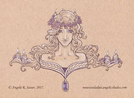 Inktober 2017 - The Lady of Wax Blessings by AngelaSasser