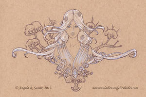 Inktober 2017 - The Lady of Arbor Light by AngelaSasser