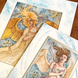 Hand Embellished Angelic Vision + Angel of Purity by AngelaSasser