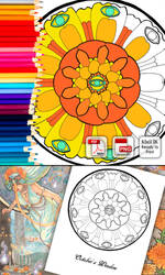 Coloring Page - October's Window by AngelaSasser