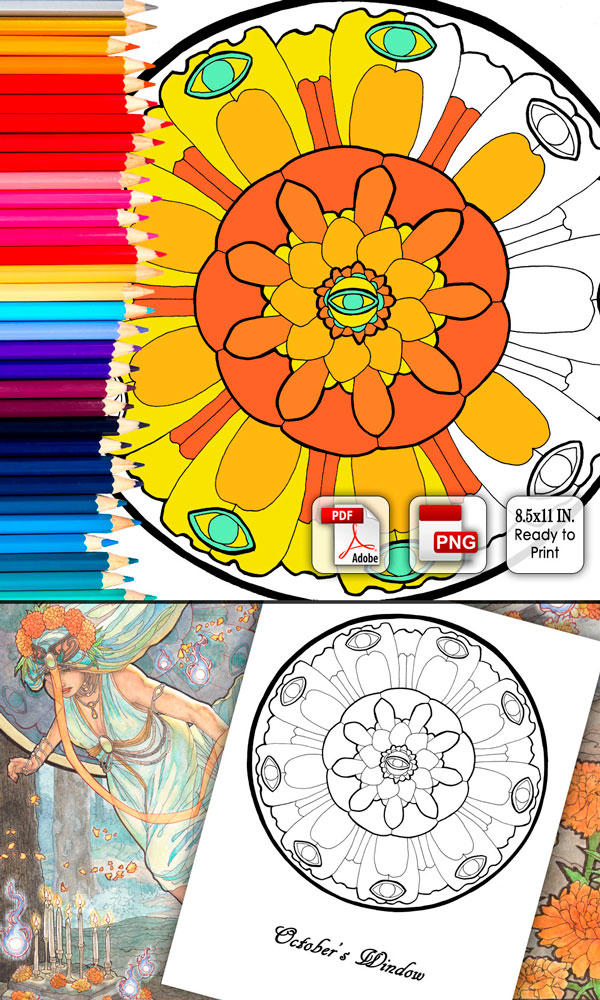Coloring Page - October's Window