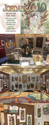 JordanCon 2018 - Art Show and Table Display by AngelaSasser