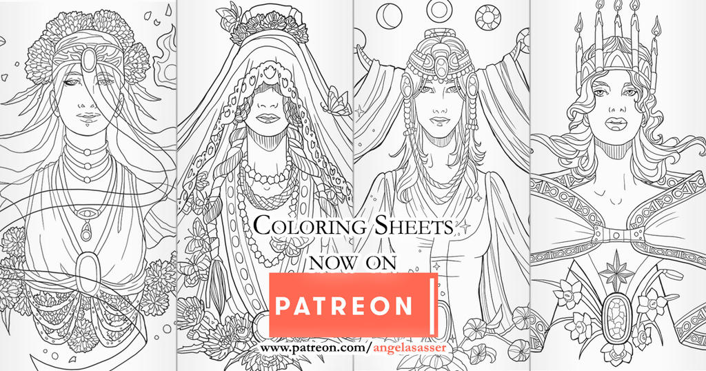 Birthstone Banner Coloring Pages on Patreon by AngelaSasser on ...