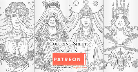 Birthstone Banner Coloring Pages on Patreon