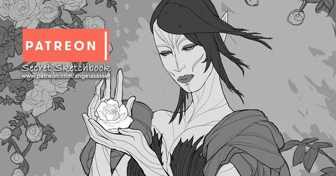 SECRET SKETCHBOOK - The Rose Fae Part 2