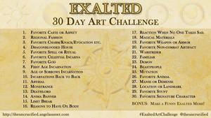 Exalted 30 Day Art Challenge