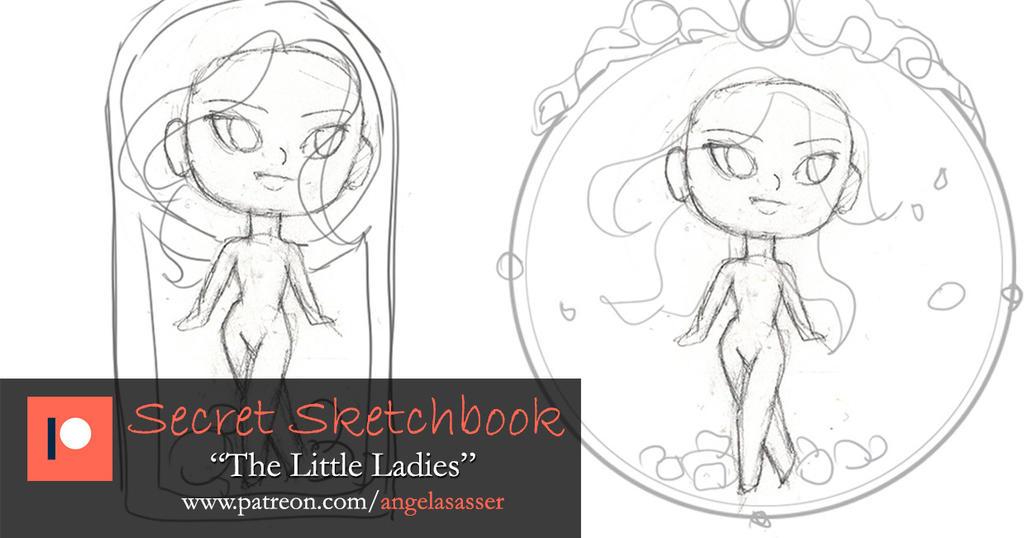 Patreon Secret Sketchbook - The Little Ladies P1 by AngelaSasser