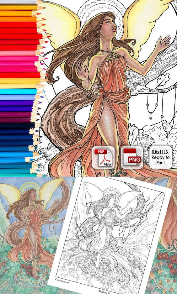 Coloring Page - Verdant Muse