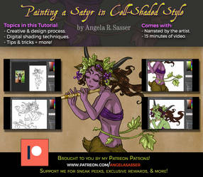 Premium Tutorial - Painting a Cell-Shaded Satyr by AngelaSasser