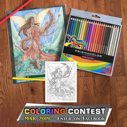 Coloring Contest - Verdant Muse by AngelaSasser